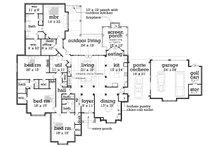 European Floor Plan - Main Floor Plan Plan #45-379