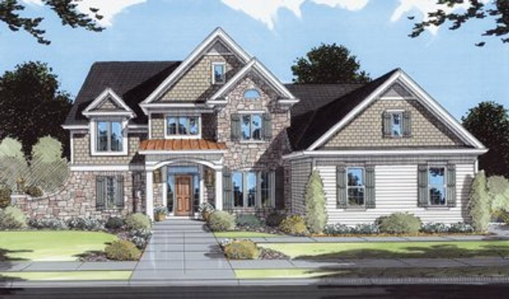 Traditional style house plan 4 beds 3 5 baths 2484 sq ft for Traditional 2 story house