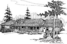 Home Plan - Country Exterior - Front Elevation Plan #60-628