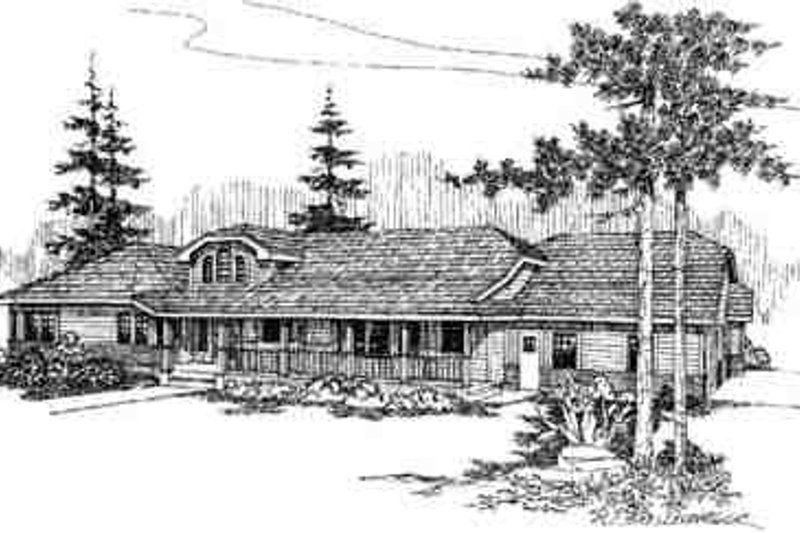 Dream House Plan - Country Exterior - Front Elevation Plan #60-628