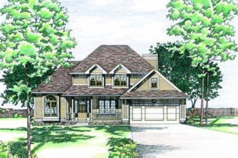 Traditional Exterior - Front Elevation Plan #20-546
