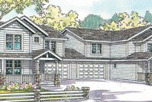 Dream House Plan - Exterior - Front Elevation Plan #124-814