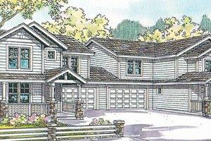 Dream House Plan - Exterior - Front Elevation Plan #124-814