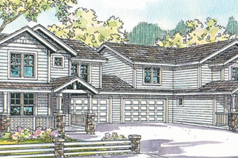 Exterior - Front Elevation Plan #124-814