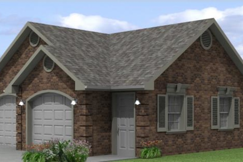 Traditional Style House Plan - 0 Beds 0 Baths 645 Sq/Ft Plan #501-12 Exterior - Front Elevation