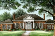 Southern Style House Plan - 4 Beds 3 Baths 3136 Sq/Ft Plan #137-116 Exterior - Other Elevation