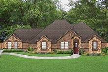 Home Plan - Tudor Exterior - Front Elevation Plan #84-591