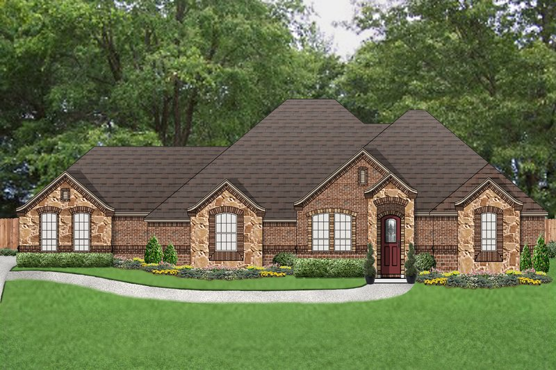 Dream House Plan - Tudor Exterior - Front Elevation Plan #84-591