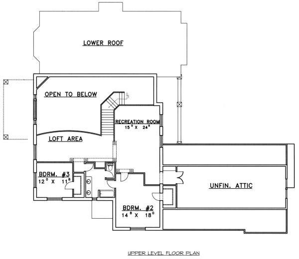 European Floor Plan - Upper Floor Plan Plan #117-562
