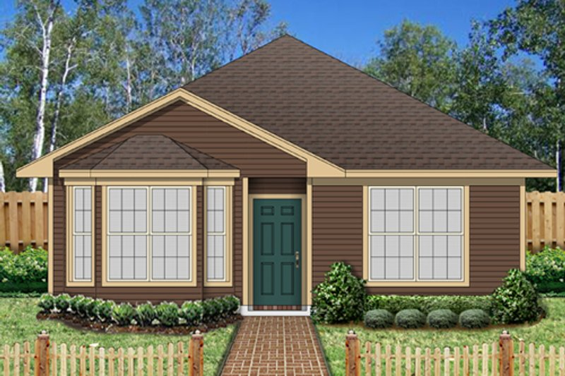 Traditional Exterior - Front Elevation Plan #84-541 - Houseplans.com