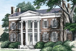Classical Exterior - Front Elevation Plan #137-242
