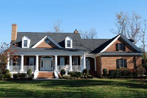 House Plan Design - Front View - 3300 square foot Country home