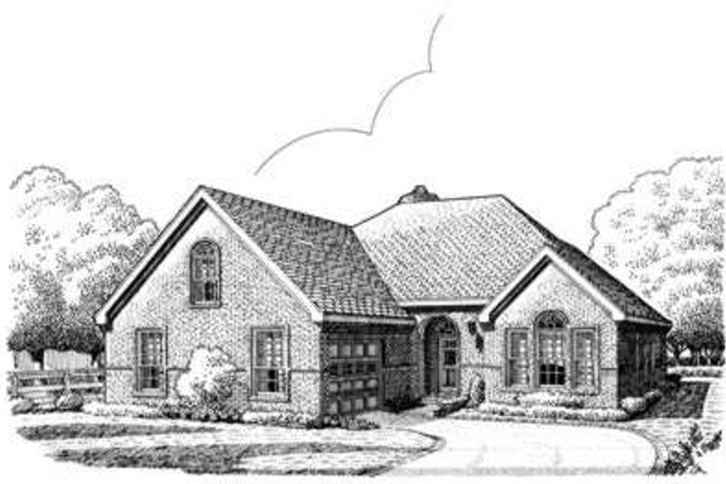 European Exterior - Front Elevation Plan #410-274