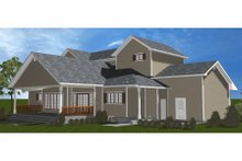 Home Plan Design - Farmhouse Exterior - Rear Elevation Plan #3-344