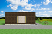 Modern Style House Plan - 2 Beds 2 Baths 1072 Sq/Ft Plan #549-19 Exterior - Other Elevation