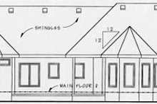 House Design - European Exterior - Rear Elevation Plan #20-1279