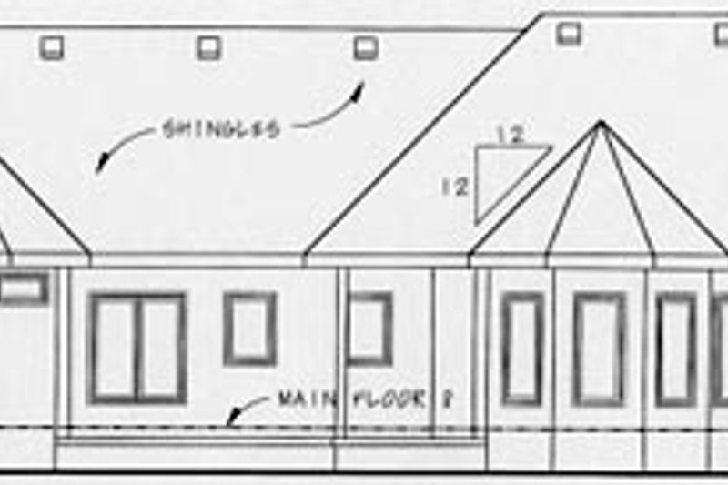 European Exterior - Rear Elevation Plan #20-1279 - Houseplans.com