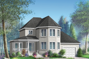 Victorian Style House Plan - 3 Beds 1 Baths 1566 Sq/Ft Plan #25-4694 Exterior - Front Elevation