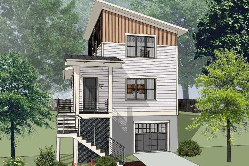 Architectural House Design - Modern Exterior - Front Elevation Plan #79-323