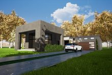 Dream House Plan - Contemporary Exterior - Other Elevation Plan #17-3385