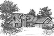 European Style House Plan - 5 Beds 3.5 Baths 3809 Sq/Ft Plan #329-311 Exterior - Front Elevation