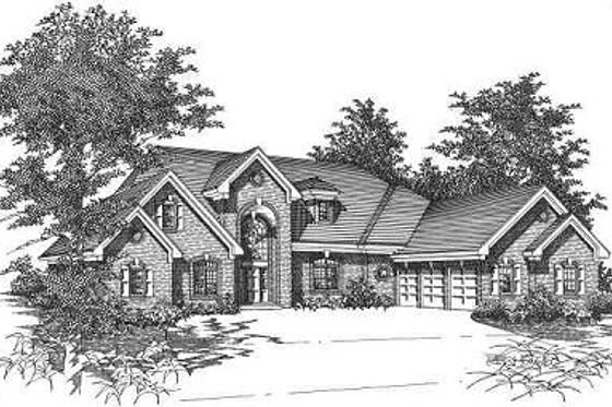 European Exterior - Front Elevation Plan #329-311