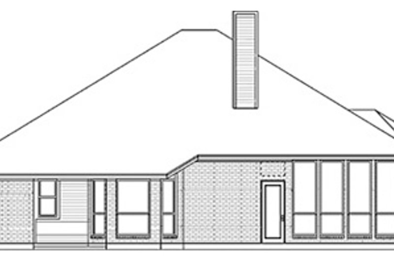 Traditional Exterior - Rear Elevation Plan #84-248 - Houseplans.com