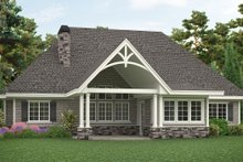 Architectural House Design - Craftsman Exterior - Rear Elevation Plan #54-408
