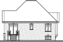 Cottage Exterior - Rear Elevation Plan #23-693