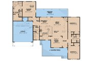Country Style House Plan - 3 Beds 2 Baths 1813 Sq/Ft Plan #923-128 Floor Plan - Main Floor