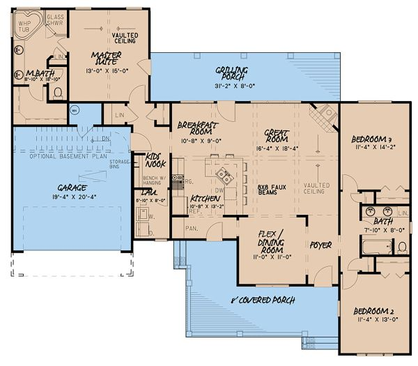 Country Floor Plan - Main Floor Plan Plan #923-128