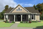 Farmhouse Style House Plan - 3 Beds 2.5 Baths 1207 Sq/Ft Plan #63-419 Exterior - Front Elevation