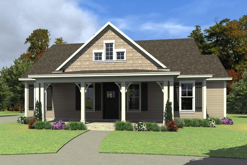 House Plan Design - Farmhouse Exterior - Front Elevation Plan #63-419
