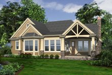 Country Exterior - Rear Elevation Plan #132-204