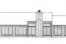 House Blueprint - Ranch Exterior - Rear Elevation Plan #72-208