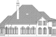 European Exterior - Rear Elevation Plan #119-214