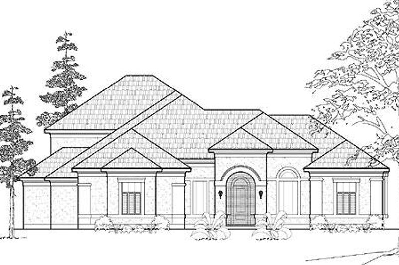 European Exterior - Front Elevation Plan #61-325