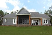 Craftsman Style House Plan - 4 Beds 3 Baths 2239 Sq/Ft Plan #929-1025 Exterior - Rear Elevation