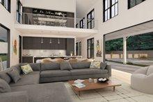 Modern Farmhouse style plan, modern design home, family room