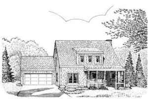 Bungalow Exterior - Front Elevation Plan #410-153