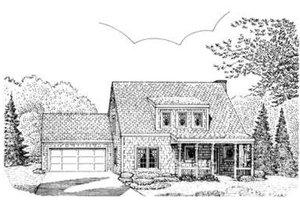 Bungalow Exterior - Front Elevation Plan #410-153
