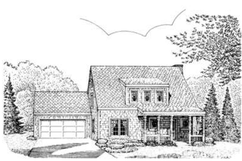 Bungalow Style House Plan - 3 Beds 2 Baths 1473 Sq/Ft Plan #410-153 Exterior - Front Elevation