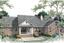 Dream House Plan - Traditional Exterior - Rear Elevation Plan #406-133