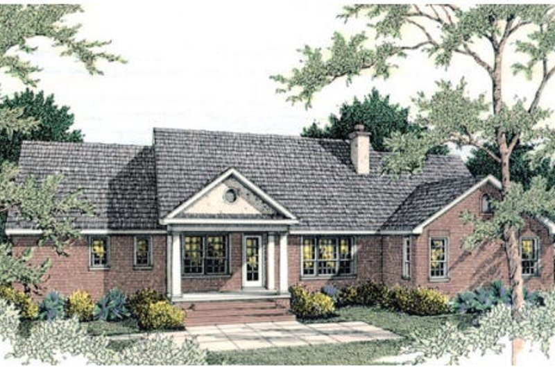 Traditional Exterior - Rear Elevation Plan #406-133 - Houseplans.com