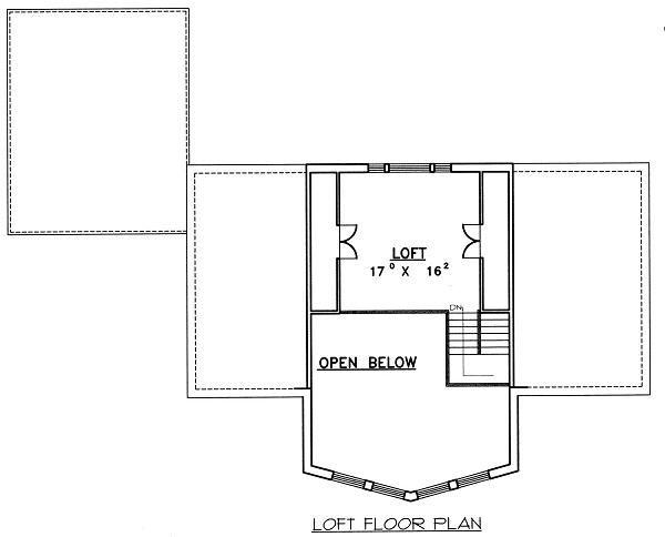 Contemporary Floor Plan - Upper Floor Plan Plan #117-519
