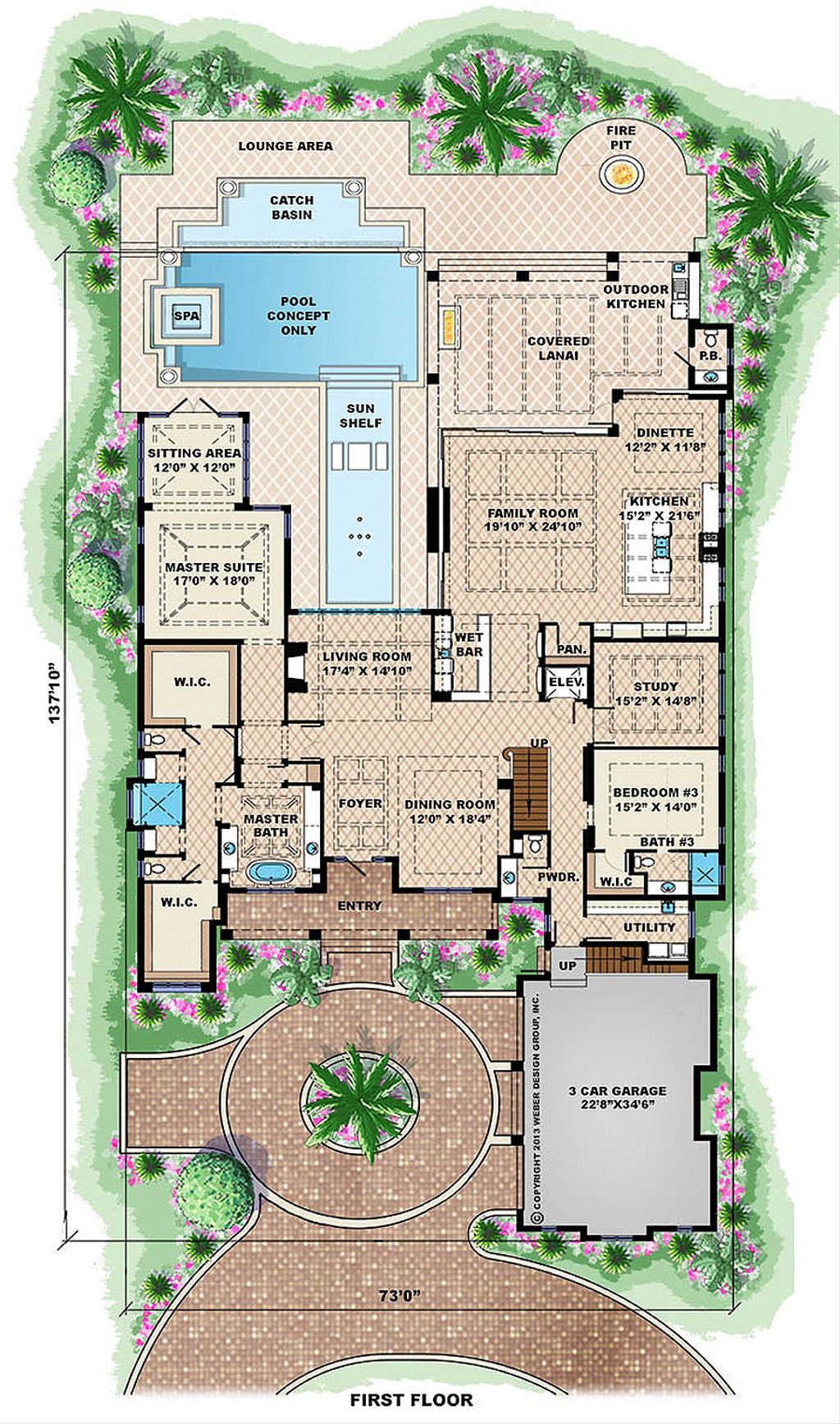 beach style house plan 6 beds 6 5 baths 10605 sq ft plan 27 462 rh houseplans com 6 bedroom house plans with basement 6 bedroom house plans nz