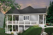 Cottage Style House Plan - 3 Beds 2 Baths 1992 Sq/Ft Plan #23-421 Exterior - Front Elevation