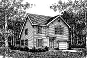 Traditional Style House Plan - 3 Beds 2.5 Baths 1726 Sq/Ft Plan #12-221 Exterior - Front Elevation