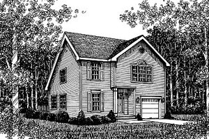 Traditional Exterior - Front Elevation Plan #12-221