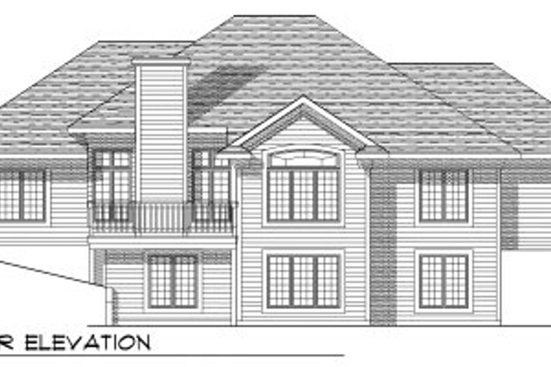 European Exterior - Rear Elevation Plan #70-766 - Houseplans.com